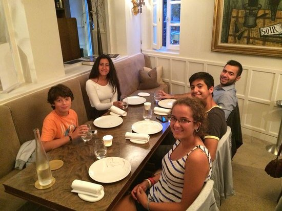 La Place de Mougins: our kids enjoying the food