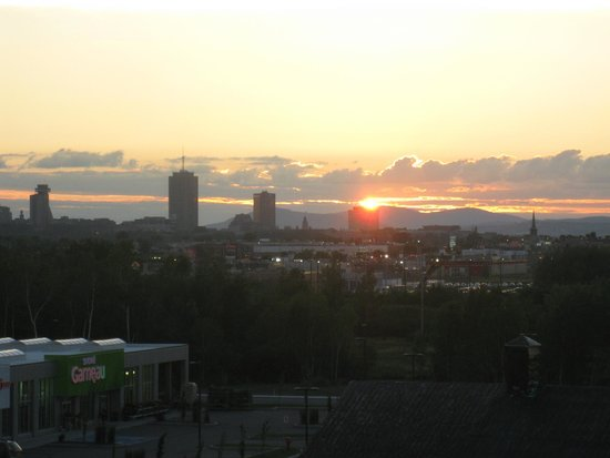 Quality Inn & Suites Levis: sunset over old quebec from room