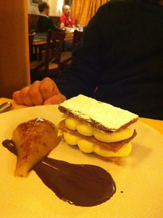 Le Florimond : milleofglie con cioccolato e pera