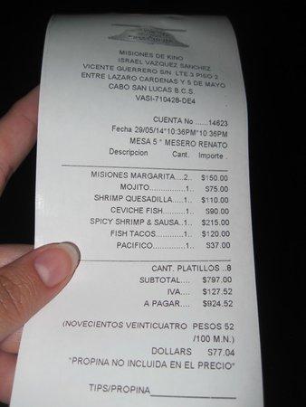 Misiones De Kino: Inexpensive Bill