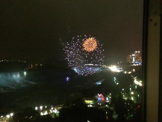 Sheraton on the Falls: fireworks at night!
