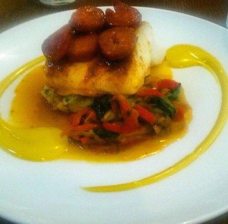 Kingswood Bar & Restaurant: Baked Cornish Cod & Chorizo Sausage