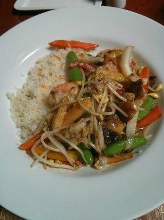 Portabella: Shrimp Stir fry
