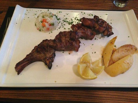 The Olive Tree : Their lamb chops.