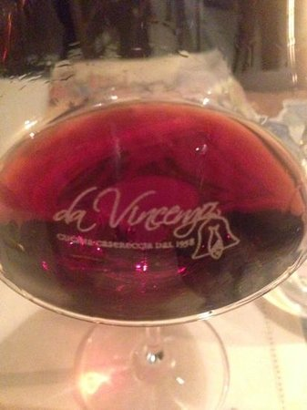 Da Vincenzo: One glass of several bottles of wine we had...