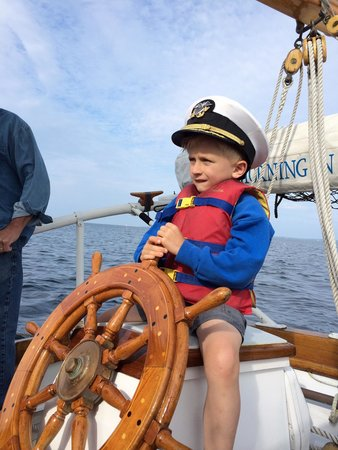 Morning In Maine Boat Tour: Capt. Ben in training