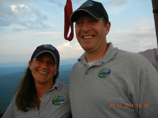 Above Reality Inc. Hot Air Balloon Rides: Owners Jeff & Susan