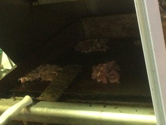 Steak Shack: オーダー後にグリル