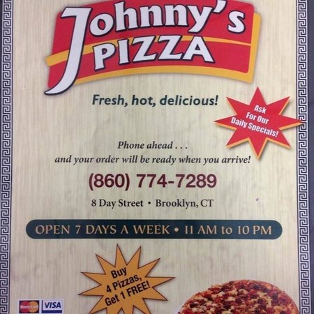 Johnny's Pizza: Menu front page
