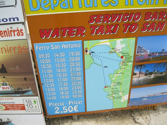 Hotel Apartamentos Monterrey: Water Taxi to San Antonio