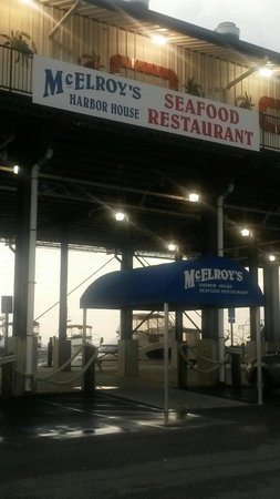 McElroy's Harbor House Seafood Restaurant: From the parking lot!