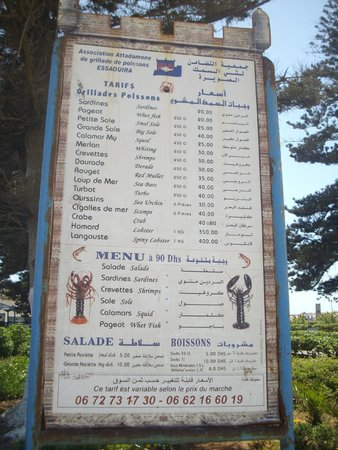Essaouira Fish Market : Prices for Grilled Seafood Meals