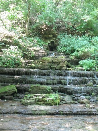 Shaker Village of Pleasant Hill: the shaker mill site waterfall