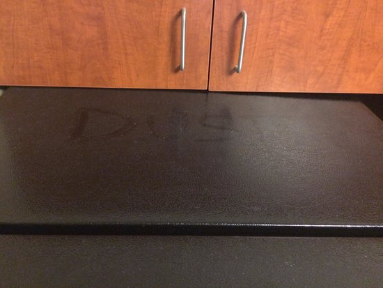 Holiday Inn Express Hotel & Suites Erie (Summit Township): Fridge dust