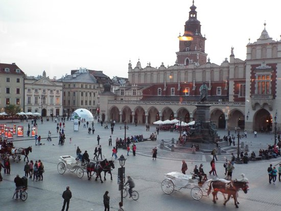 Cracovie : Praça do mercado