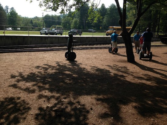 Clark's Trading Post and the White Mt. Central RR: 5 yo on a segway!