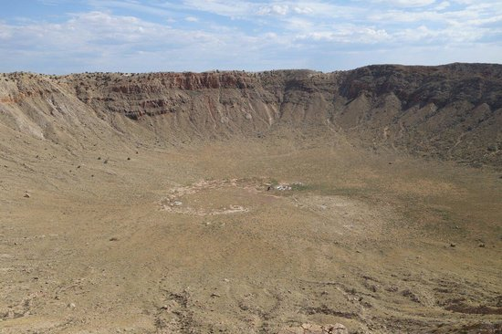 Meteor Crater: Photo by Naomi McMurtrie.