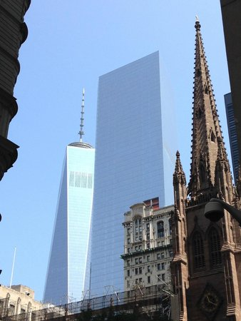 The Wall Street Experience - Wall Street Tours: Freedom tower from a few blocks away.