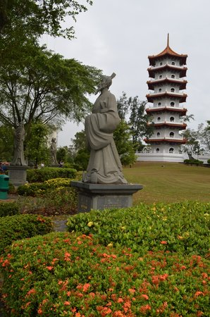 Chinese And Japanese Gardens: Statue And Pagoda