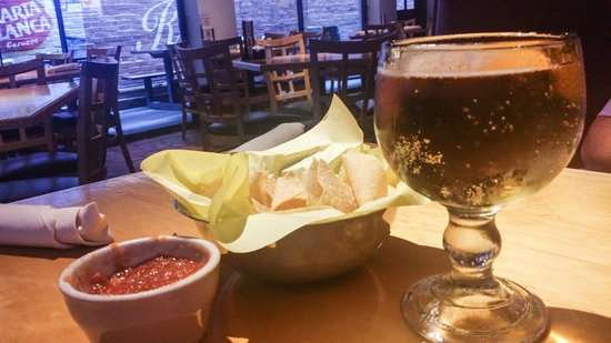 Banditos Tex Mex Caantina: cold beer, chips, and salsa...