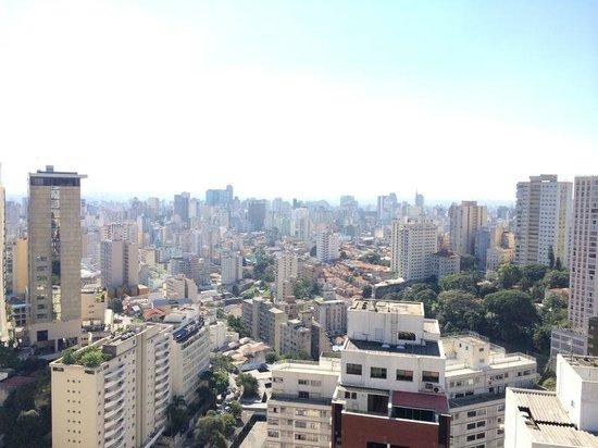 Maksoud Plaza : Vista do apartamento para o centro de São Paulo