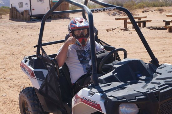 Awesome Adventures: My son after the first part of the ATV'ing