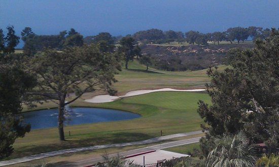 Hilton La Jolla Torrey Pines: Torrey Pines Golf Course from our terrace.