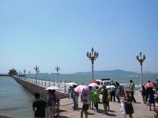 Zhanqiao Pier: 桟橋は波が高くて、立入禁止