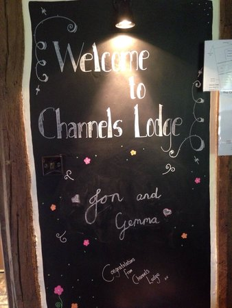 Personalised for our friends from Channels Lodge