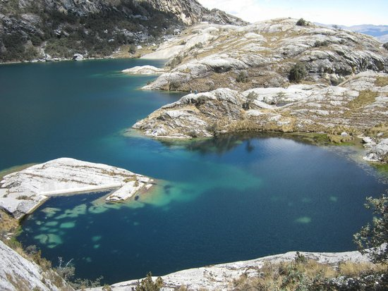 Lake Churup: sun baked rocks to sit and eat lunch and enjoy the scenery
