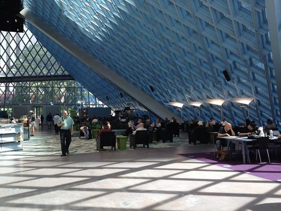 Seattle Public Library: cafe area