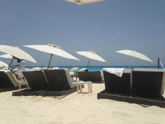 Beach Palace: VIP Beach Seating area