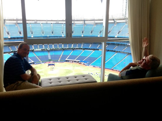 Renaissance Toronto Downtown Hotel : View of the field from the living room (Room 454)