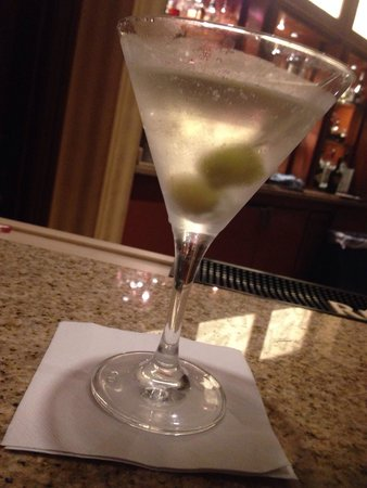 Indianapolis Marriott Downtown: Dirty Martini with Blue Cheese Stuffed Olives from the hotel bar.