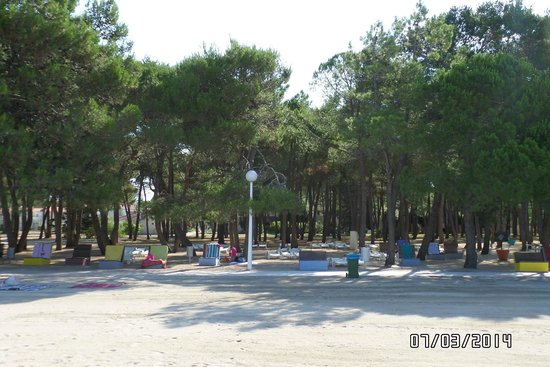 Zaton Holiday Resort: beach opposite the sea