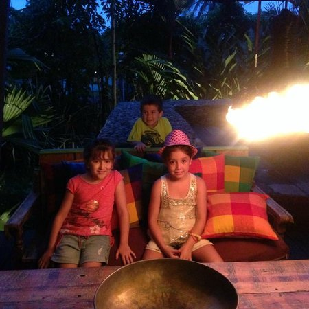 KOKi Beach Restaurant & Bar : our kids enjoying at Koki Beach
