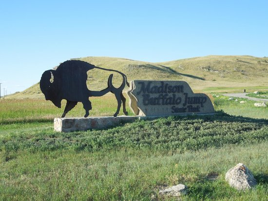 Entrance sign To Madison Buffalo Jump State Park