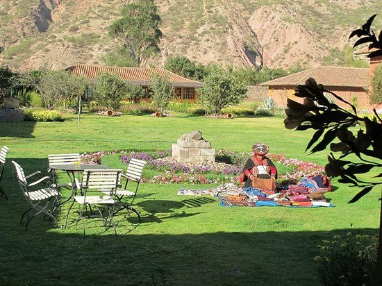 Hotel La Casona De Yucay Valle Sagrado: View from the reception