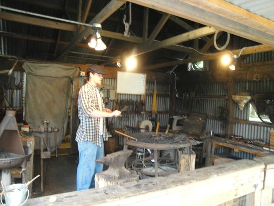 Heritage Farmstead Museum : Learn how to make horseshoes in the Blacksmith shop.
