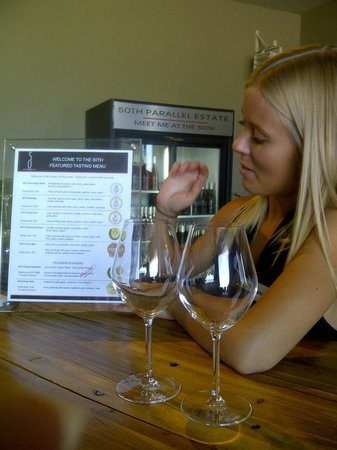 50th Parallel Estate Winery: Our hostess