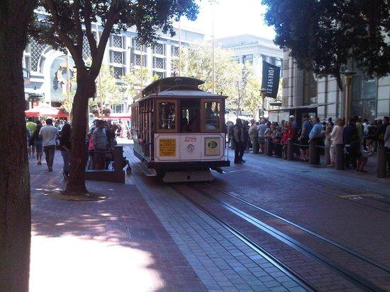 Cable Cars: Partida da Union Square