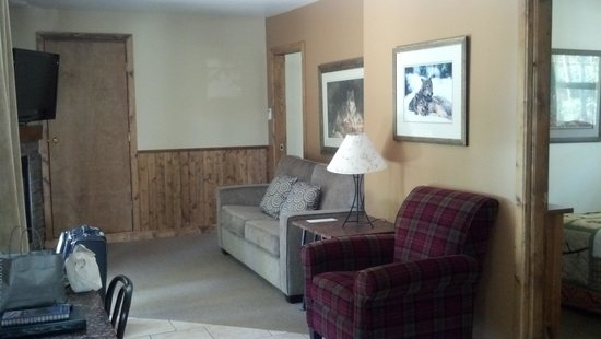 Patricia Lake Bungalows Resort: Living area