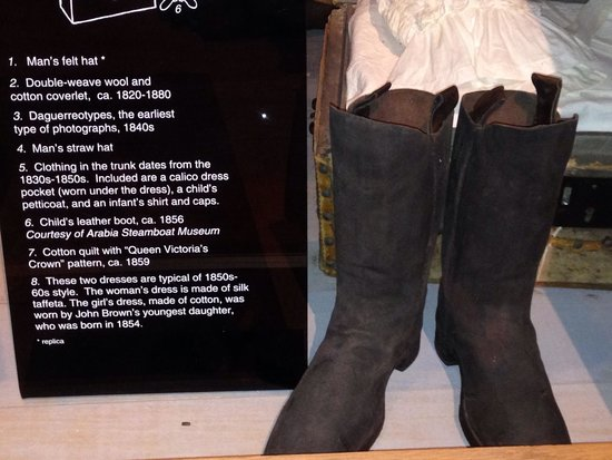 Kansas Museum of History: Boots from 1856