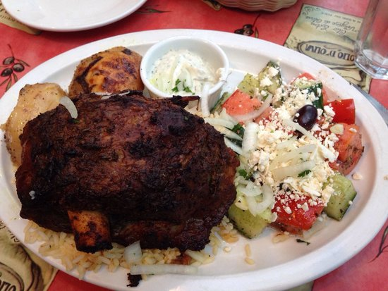 Dorian Greek House: Roast lamb is perfectly braised and slow roasted.