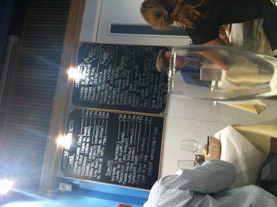 Eslava : Menu in the Bar area