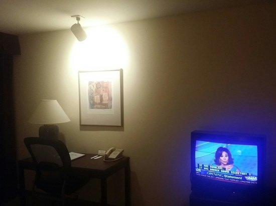 Airtel Plaza Hotel: Old TV