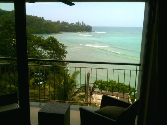 Cape Sienna Hotel & Villas : View from room block 5 second level.