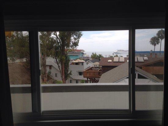 El Terado Terrace: Ocean view from inside our room.