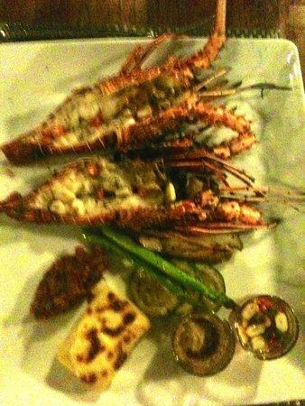 Bua Restaurant: Local lobster with chilli & garlic,  gratin potoatoes