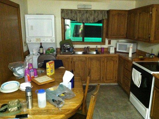 Hillcrest Cottages: Kitchen in use